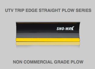 UTV Trip Edge Straight Plow Series Snow