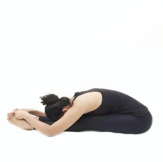 UshtrasaPaschimottanasana (Back stretching pose)