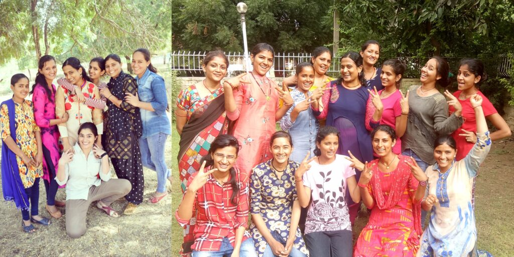 Kriti Didi with some of the girls she rescued from child marriages