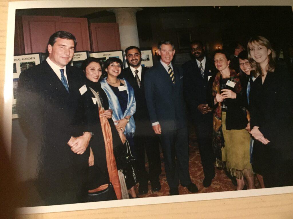 Sathya Saran with Prince Charles