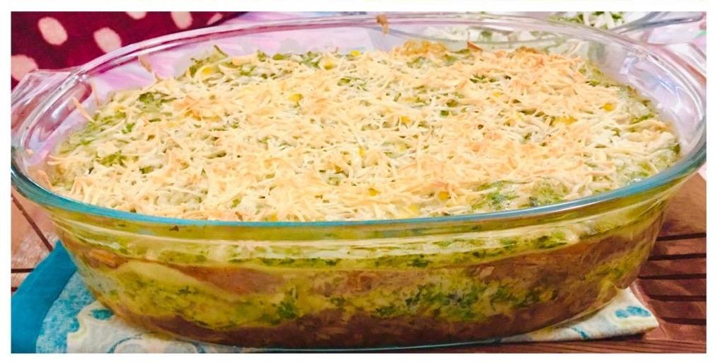 Double Bonanza Chicken, Spinach and Corn Lasagna