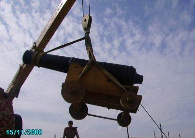 Reinstalling cannon, Mutrah