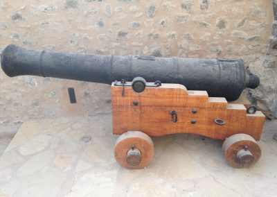 Cannon with new carriage by HAEF at Mutrah