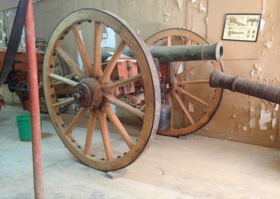 British 6 pdr cannon carriage