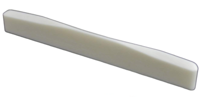 Bone Guitar Saddle – Fits Many Fender Acoustic Guitars. Wave Compensation. 75 mm Length.