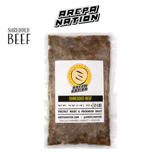 Shredded beef frozen and packaged to deliver directly to your home in dallas