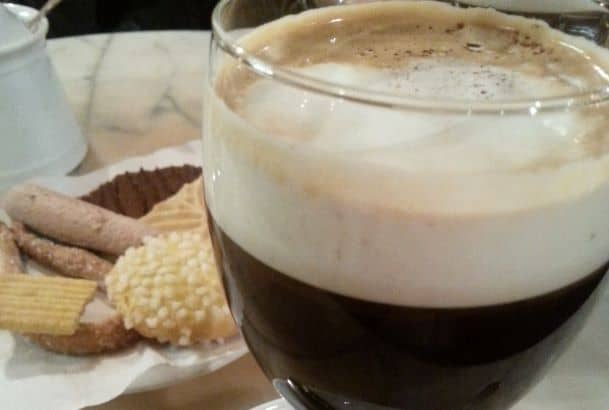 Bicerin, the famous coffee drink of Turin, Italy