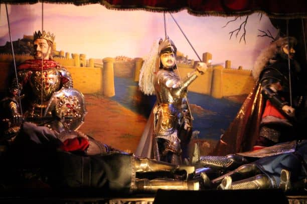 Puppet theater in Ortigia. Notice the bodies piling up. (Photo: Brent Petersen)