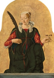 Notice the eyes in place of leaves on the stem held by St. Lucy (Image: National Gallery)