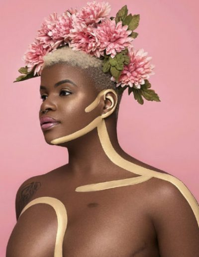 Ericka Hart with a flower crown