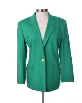 Versace Jeans Green Couture Long Sleeves Cashmere Jacket Size 46 US10