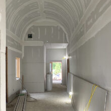Luxury Home Construction, Old Westbury, NY. Domed entryway.