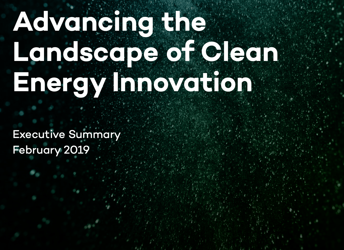 clean energy innovation