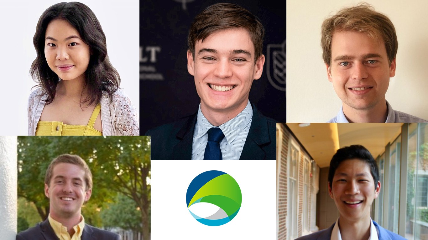 Interns from our fall climate tech venture capital internship program