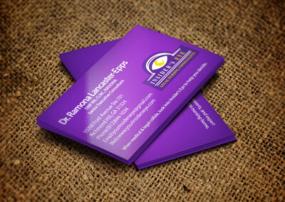 Insiders Eye Business Cards mck up