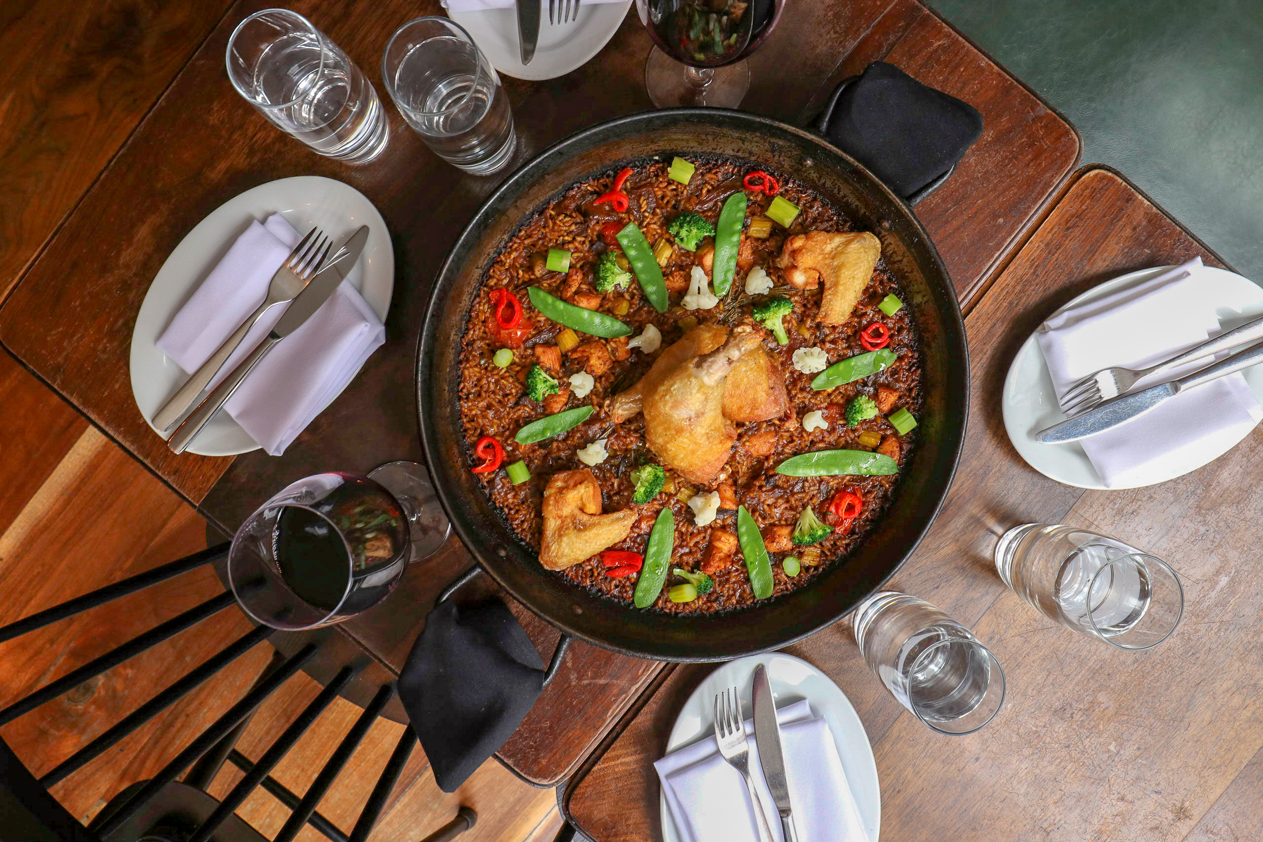 Paella from Spanish Restaurant Socarrat NYC