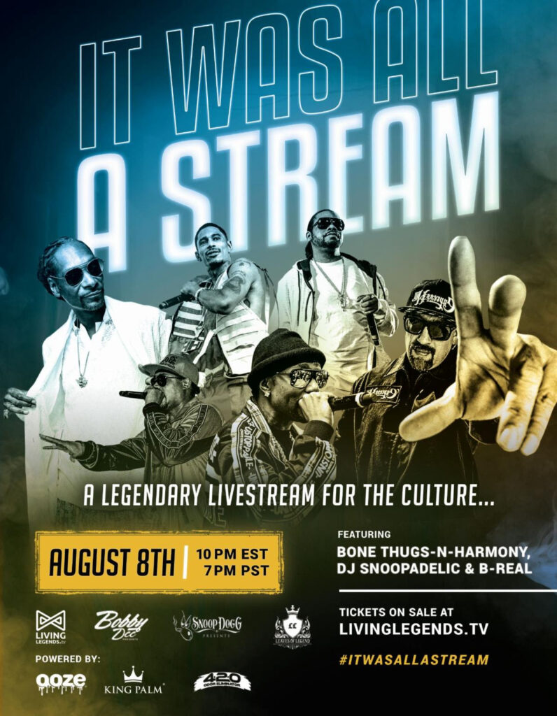 "Snoop Dogg, Bone Thugs-N-Harmony & B-Real Unite For ""It Was All A Stream"""