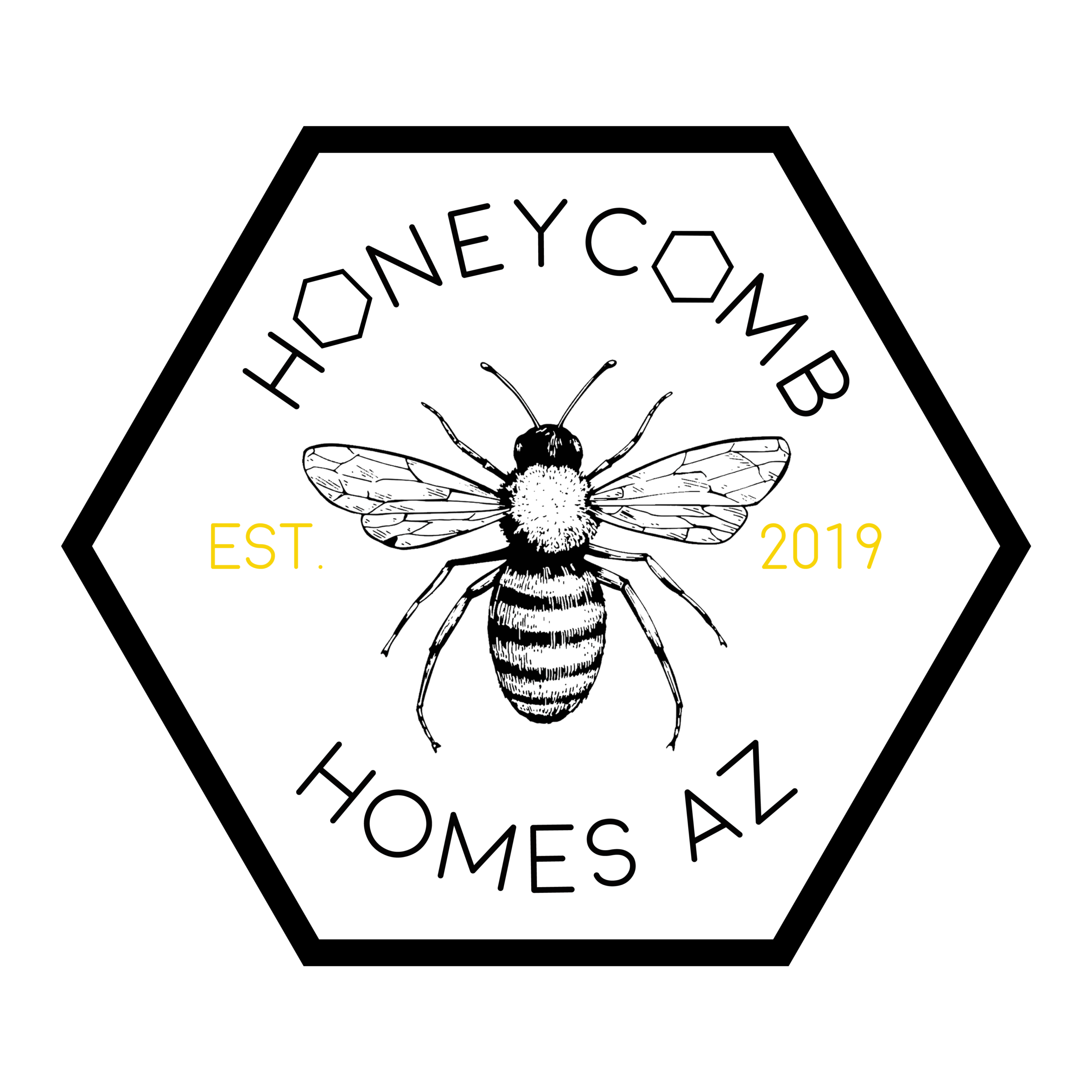 honeycomb homes logo in white