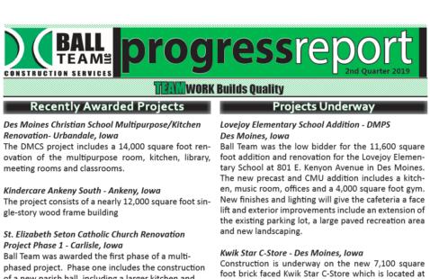 2nd Quarter 2019 Progress Report
