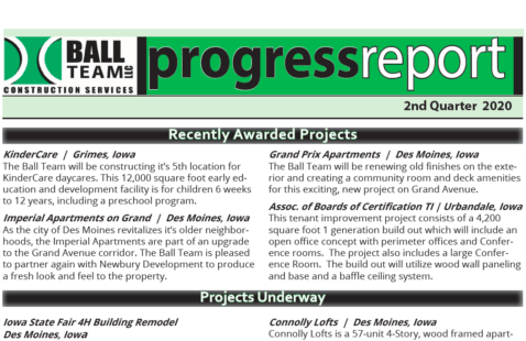 2nd Quarter 2020 Progress Report