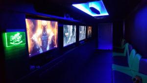 Green Lighting Inside Rental Arcade Truck