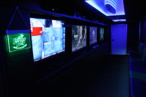 Game Truck Screens showing various amges