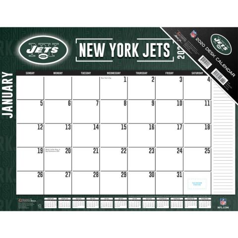 Destop 2020 New York Jets Calendar
