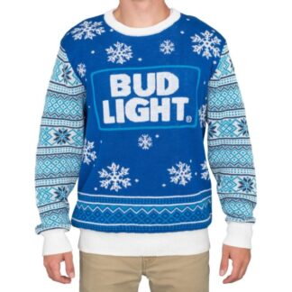 Bud Light Beer Logo Christmas Sweater
