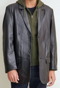 Big and Tall Leather Blazer