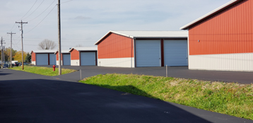 Outdoor view of storage units