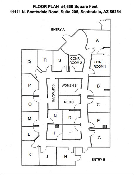 Scottsdale Executive Office Suites Floor Plan