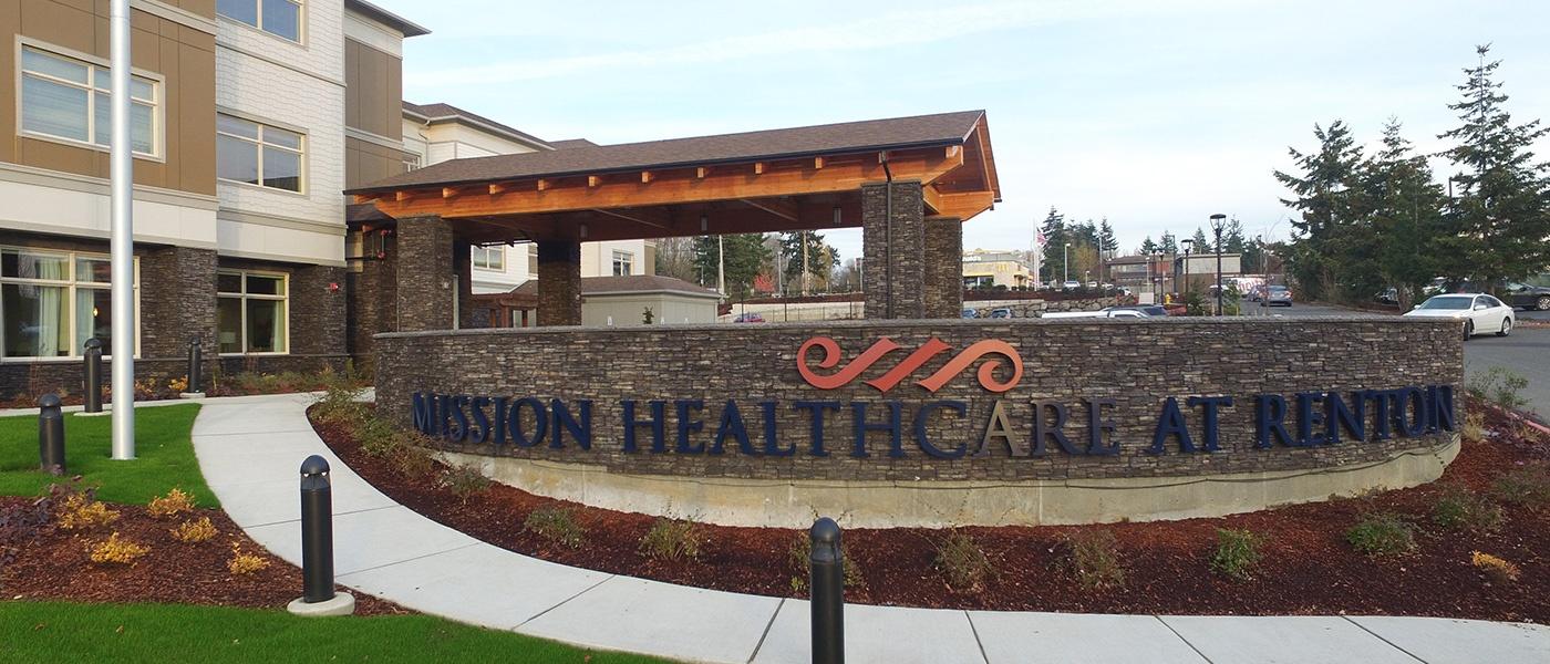 Mission Healthcare Renton Sign