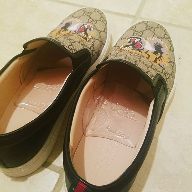 #soulinsole + #guccishoes = the best of comfort and fashion combined  #fanpic, #gucci #shoesaddict