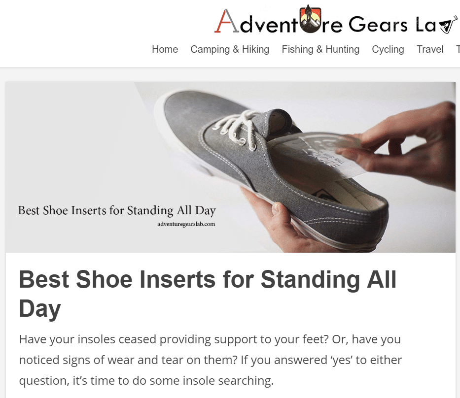 Do your feet ACHE from standing all day?