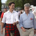 Video surfaces of Justin Trudeau trying to look like a man