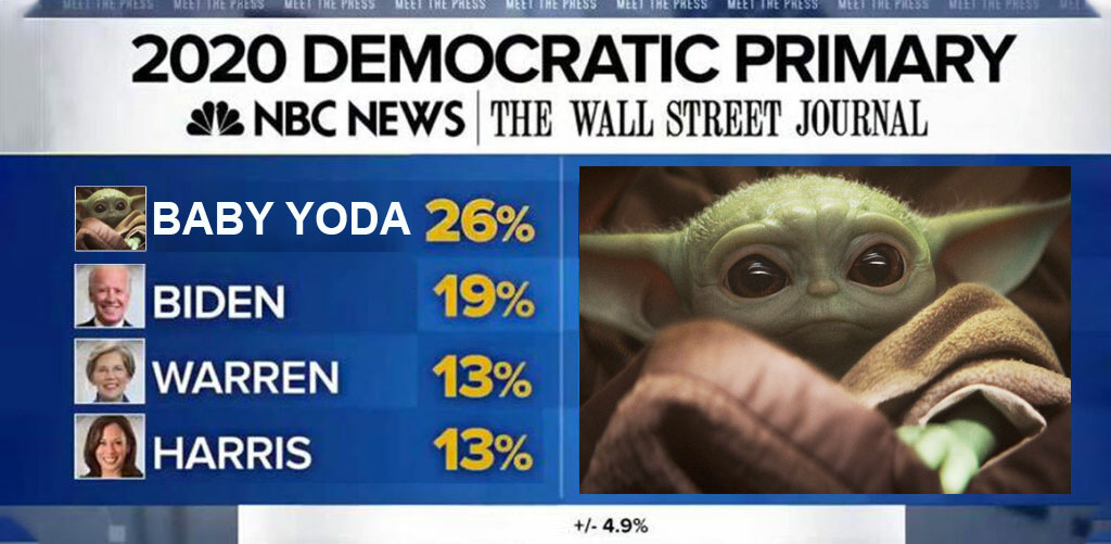POLL: Baby Yoda leads all Democrats for 2020 Presidential bid despite not running or being real