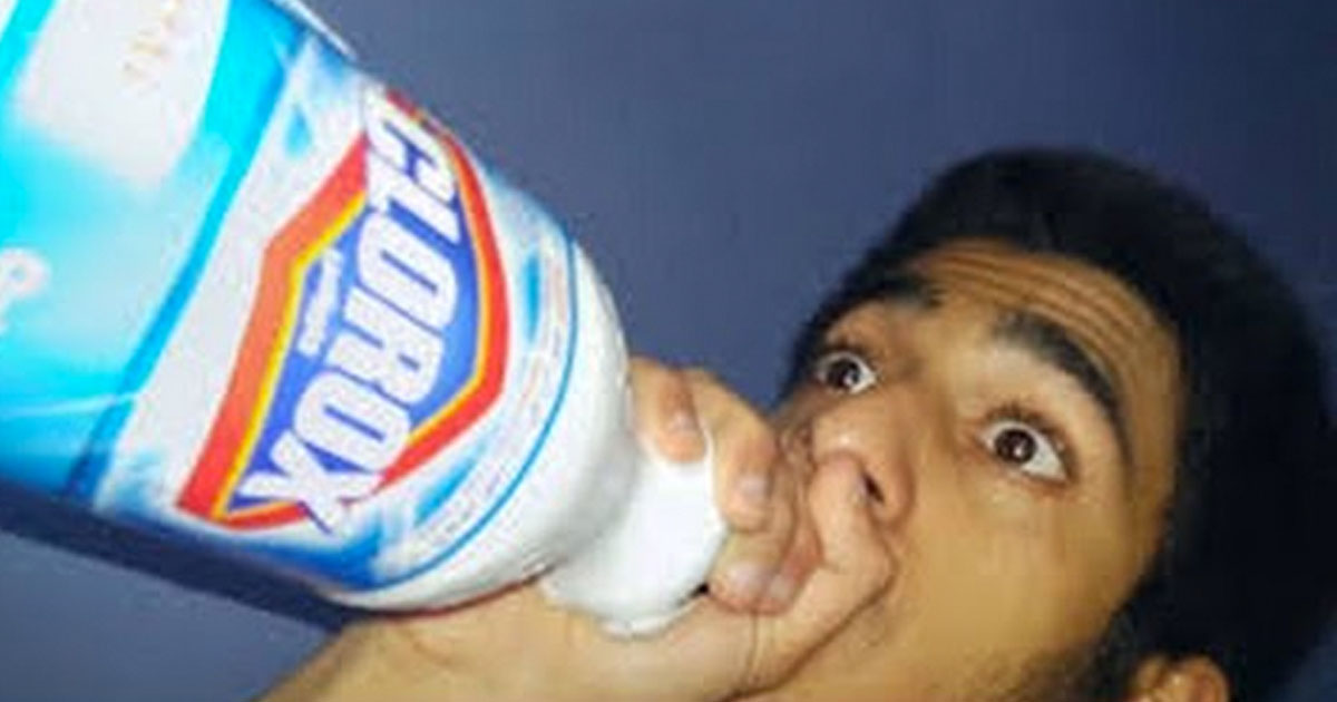 Thousands of brave progressives drink bleach in order to