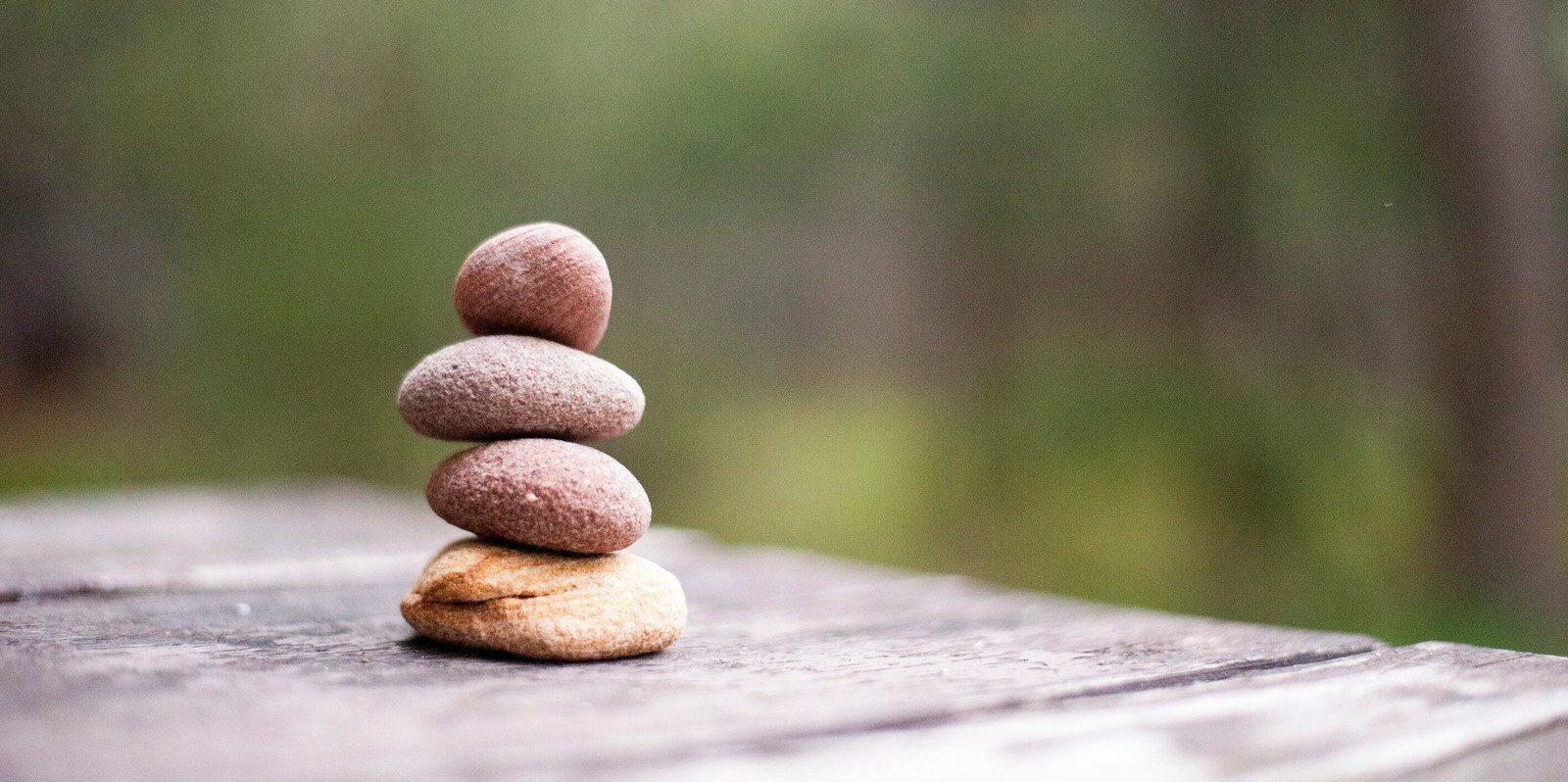 balanced rock pile