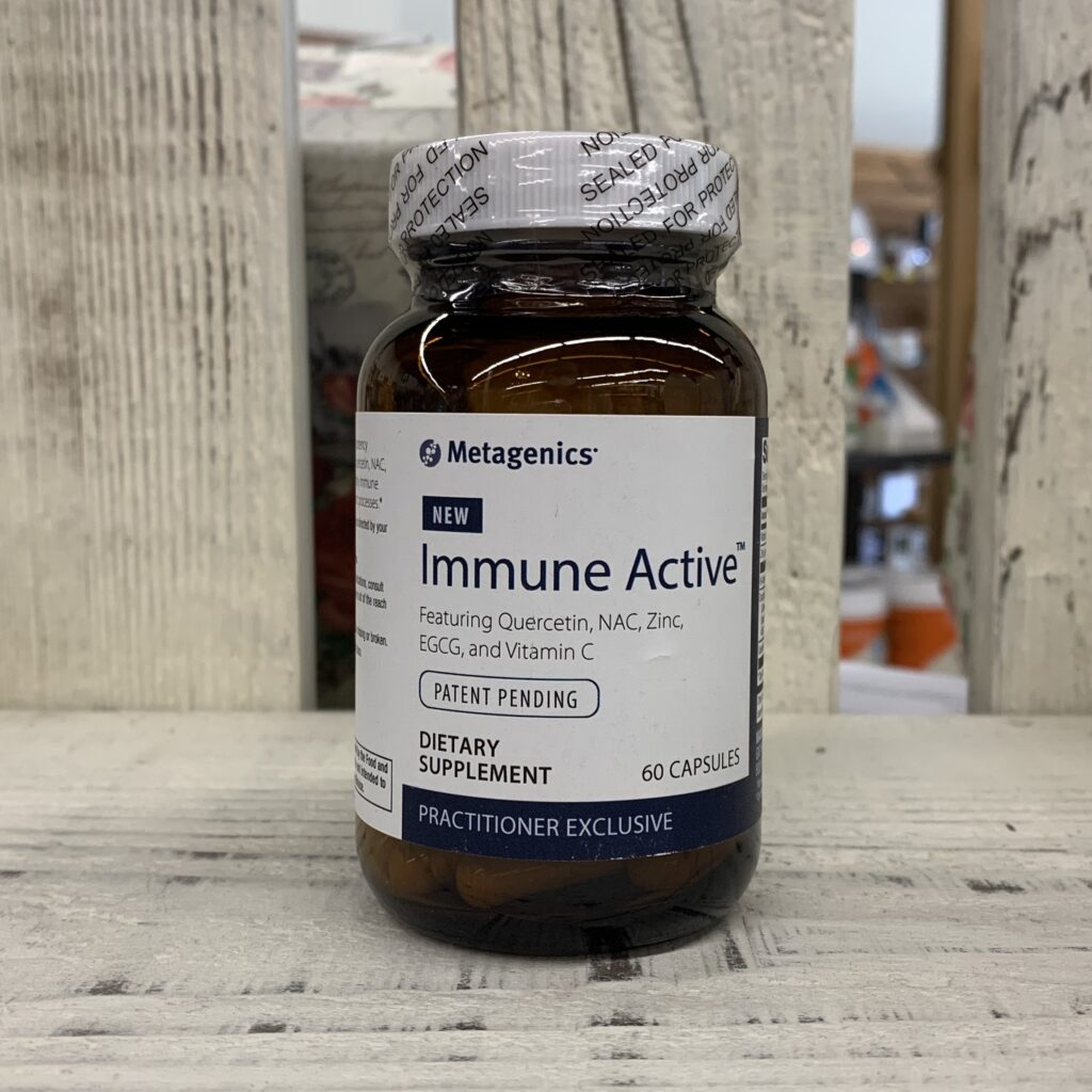 bottle of immune active supplement by metagenics