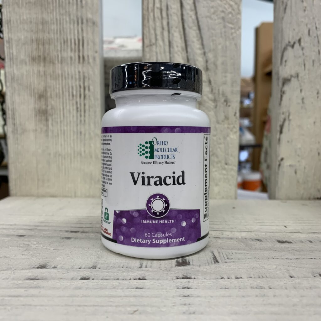 bottle of viracid supplement by orthomolecular.