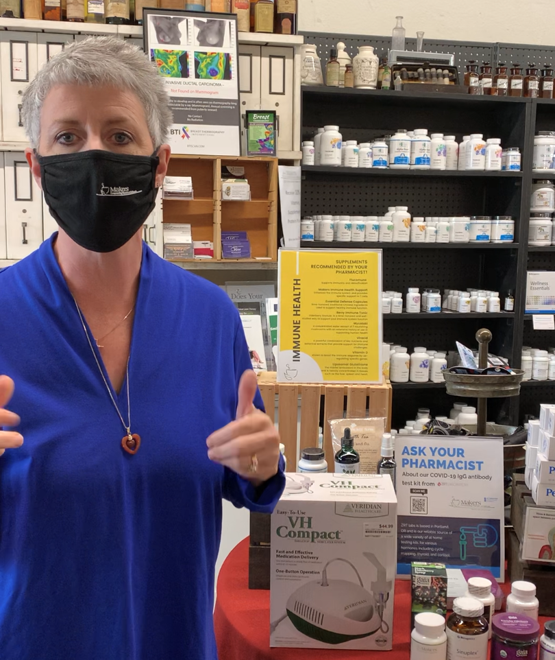 Michelle Moser, local pharmacist in a facebook video talking about the 7 things she recommends for breathing in poor air quality