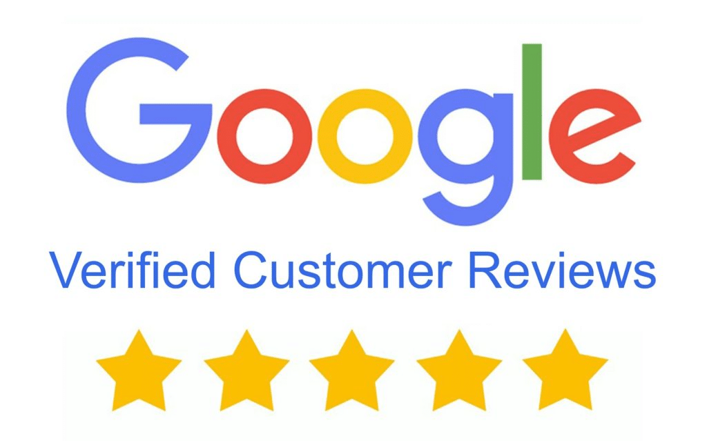 verified customer Google reviews