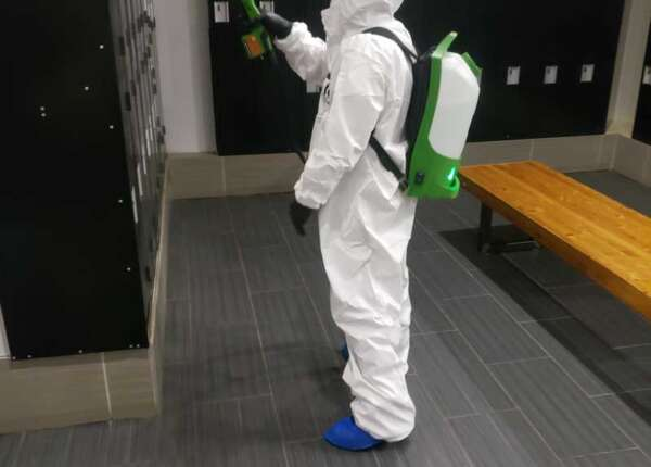 change rooms disinfecting