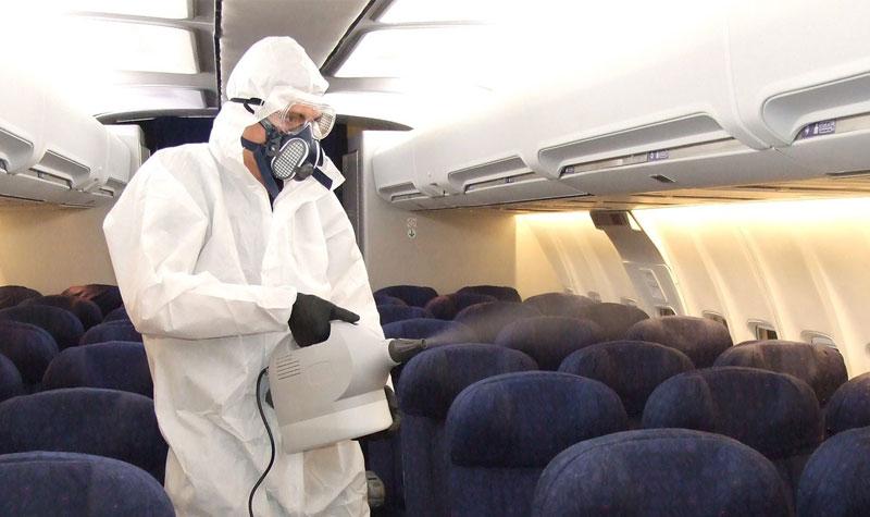 coronavirus airplane disinfection