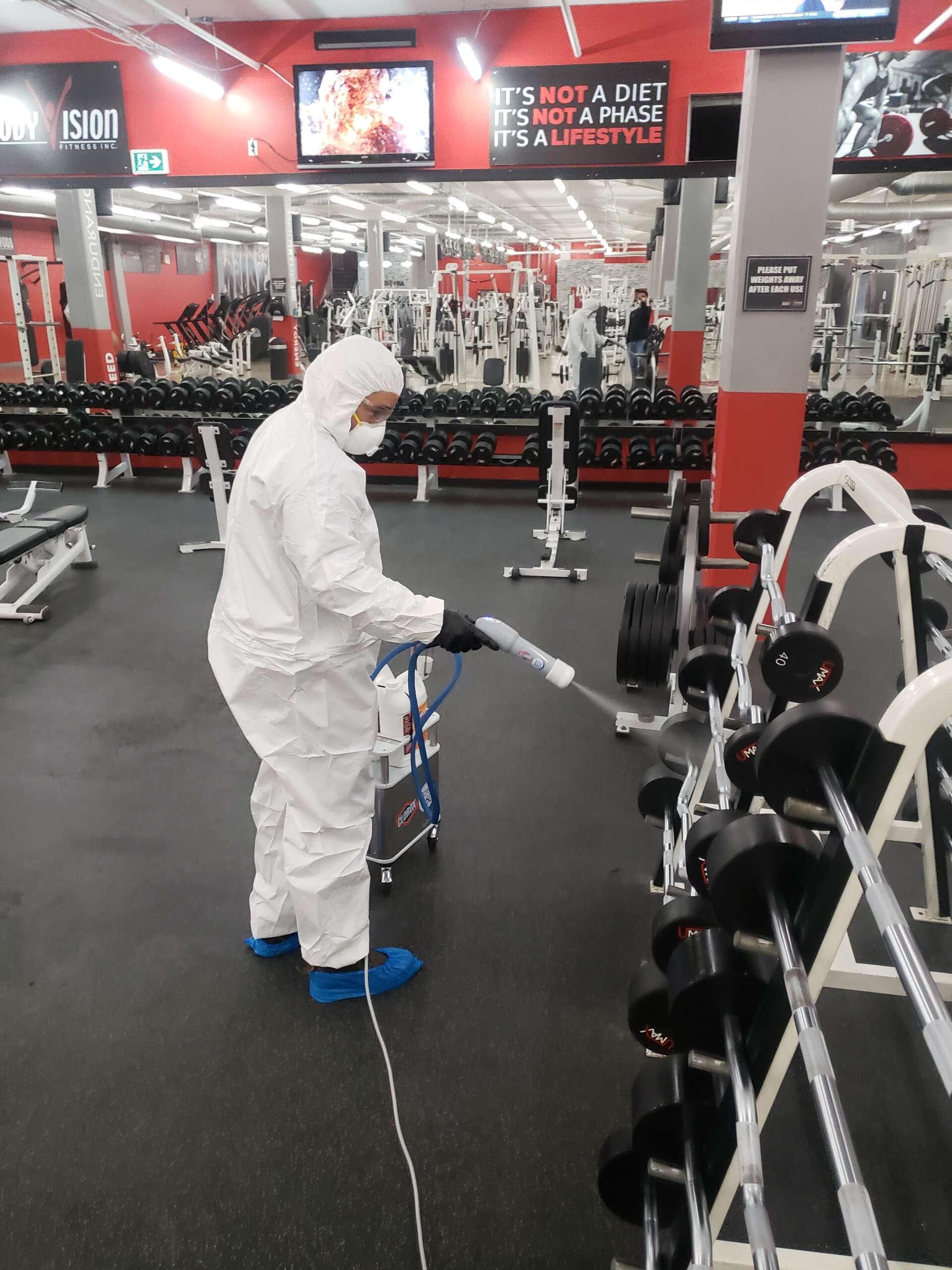 gym sanitizing services