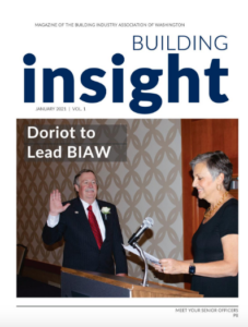 Cover of Building Insight Magazine with Tracy Doriot on the Cover