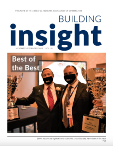 Building Insight Magazine in Dec with Tracy on the Cover for the Award Ceremony
