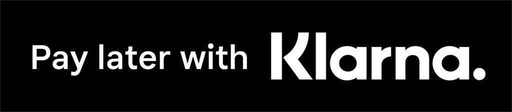 Want to by now and pay over time?  Check out your options with Klarna as you view our products and add them to your cart!