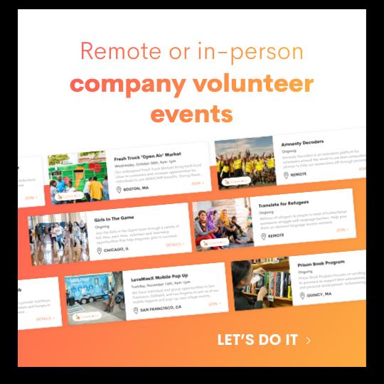company volunteer events
