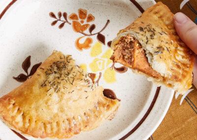 Hyam and Cheddar Handpie   Shoofly Vegan Bakery